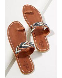 Aspiga - Lamu Beaded-leather Sandals - Lyst
