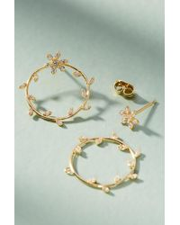 Anthropologie - Floral Wreath Front-back Earrings - Lyst