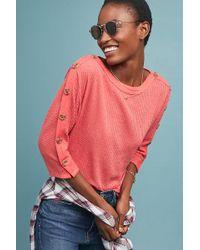Akemi + Kin - Brenda Button-sleeved Top - Lyst