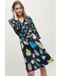 Bl-nk - Colario Printed Wrap Dress - Lyst