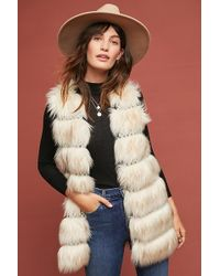 Anthropologie - Faux-fur Vest - Lyst