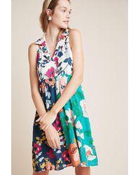 8b277f15b4322 Byron Lars Beauty Mark Brocade Garden Floral Sheath Dress in Natural ...