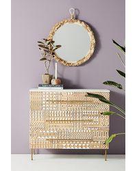 Anthropologie Carved-patchwork Three-drawer Dresser - White