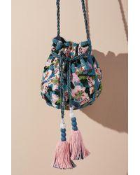 Anthropologie - Femme Floral Drawstring Bag - Lyst