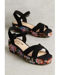 Chelsea Crew - Floral Flatform Sandals - Lyst