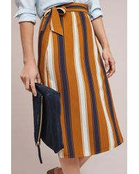 Porridge - Melody Striped Wrap Skirt - Lyst