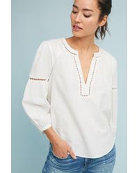 Akemi + Kin - Evie Embroidered Lace Top - Lyst