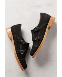All Black - Monk Buckled Oxfords - Lyst