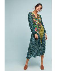 Bl-nk - Romalie Printed-wrap Dress - Lyst