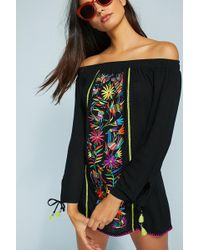 Nanette Lepore - Isla Marietas Off-the-shoulder Cover-up - Lyst