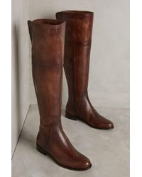Miss Albright - Burnished Riding Boots - Lyst