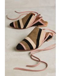 Luiza Perea | Suede Ankle-wrap Mules | Lyst