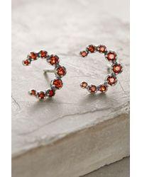 Ela Rae | Garnet Crescent Earrings | Lyst