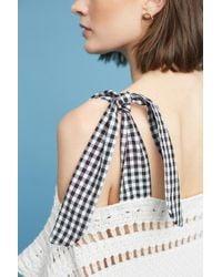 Maeve - Gingham Ribbon-sleeve Sweater - Lyst