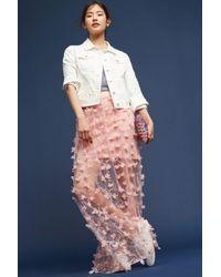 True Violet - Floral Cascade Maxi Skirt - Lyst