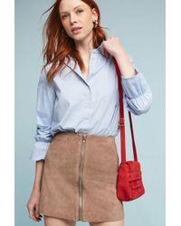Six Crisp Days - Leather Moto Mini Skirt - Lyst