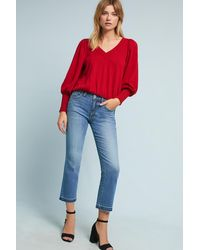 Pilcro - High-rise Cropped Flare Jeans - Lyst