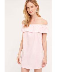 Blue Tassel   Off-the-shoulder Poplin Dress   Lyst