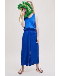 SELECTED - Gramma Cropped Wide-leg Jumpsuit - Lyst