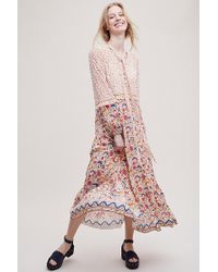 8ecb82981a85 Anthropologie - Morgana Floral-print Tiered Maxi Dress - Lyst