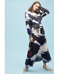 SELECTED - Lillia Printed Maxi Shirtdress - Lyst