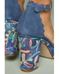 Anthropologie - Scalloped Platform Heels - Lyst