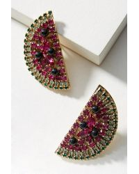 Anton Heunis - Watermelon Slice Post Earrings - Lyst