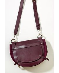 Liebeskind - Leather-trimmed Suede Crossbody Bag - Lyst