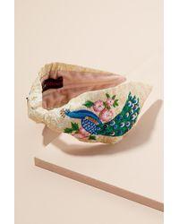 Anthropologie - Donelie Embroidered Headband - Lyst