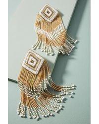 Olivia Dar - Diamond-shaped Drop Earrings - Lyst