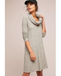 Saturday/sunday - Off-the-shoulder Brushed Fleece Dress - Lyst