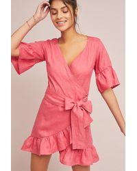 Anthropologie - Talulah Linen Wrap Dress - Lyst