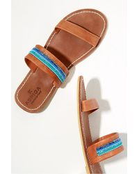 Aspiga - Chako Beaded-leather Sandals - Lyst