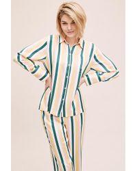 Anthropologie - Haut de pyjama rayé en soie - Lyst