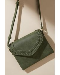 Anthropologie - Stich-detail Faux-leather Crossbody Bag - Lyst