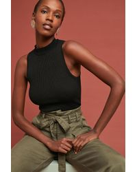 Moth - Ribbed Mock-neck Tank Top - Lyst