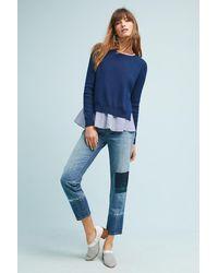 Pilcro - Tonal High-rise Straight Jeans - Lyst