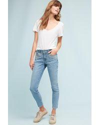 Pilcro - Script High-rise Pearl Skinny Jeans - Lyst
