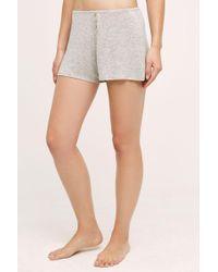 Eloise - Heathered Knit Sleep Shorts - Lyst