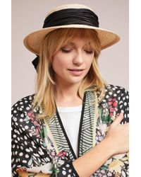 Eugenia Kim | Brigette Bow Boater Hat | Lyst