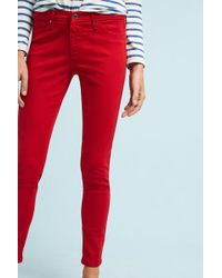 AG Jeans | Ag The Abbey Sateen Mid-rise Skinny Ankle Jeans | Lyst