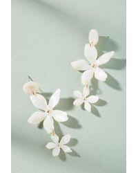 Zenzii - Tortoise Flower Drop Earrings - Lyst