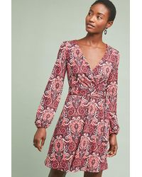 a0cc9a0f8786b Maeve Paisley Shift Dress in Red - Lyst