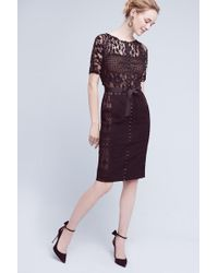 807342e8bbce Byron Lars Beauty Mark - Carissima Lace Shift Dress - Lyst