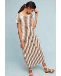 Saturday/sunday - Faith Striped Maxi Dress, White - Lyst