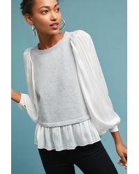Akemi + Kin | Nell Woven Flutter Sleeve Sweatshirt | Lyst