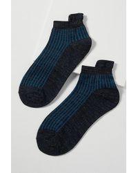 Becksöndergaard - Summer Metallic Striped Ankle Socks - Lyst