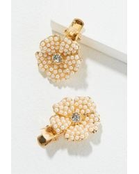 Anthropologie - Set Of Two Faux Pearl-embellished Hair Clips - Lyst