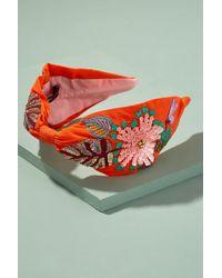 Anthropologie - Tulia Embroidered-embellished Headband - Lyst