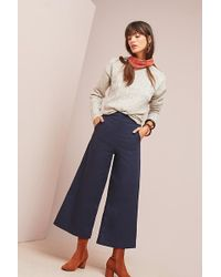 Seen, Worn, Kept - High-waisted Cropped Wide-leg Trousers - Lyst